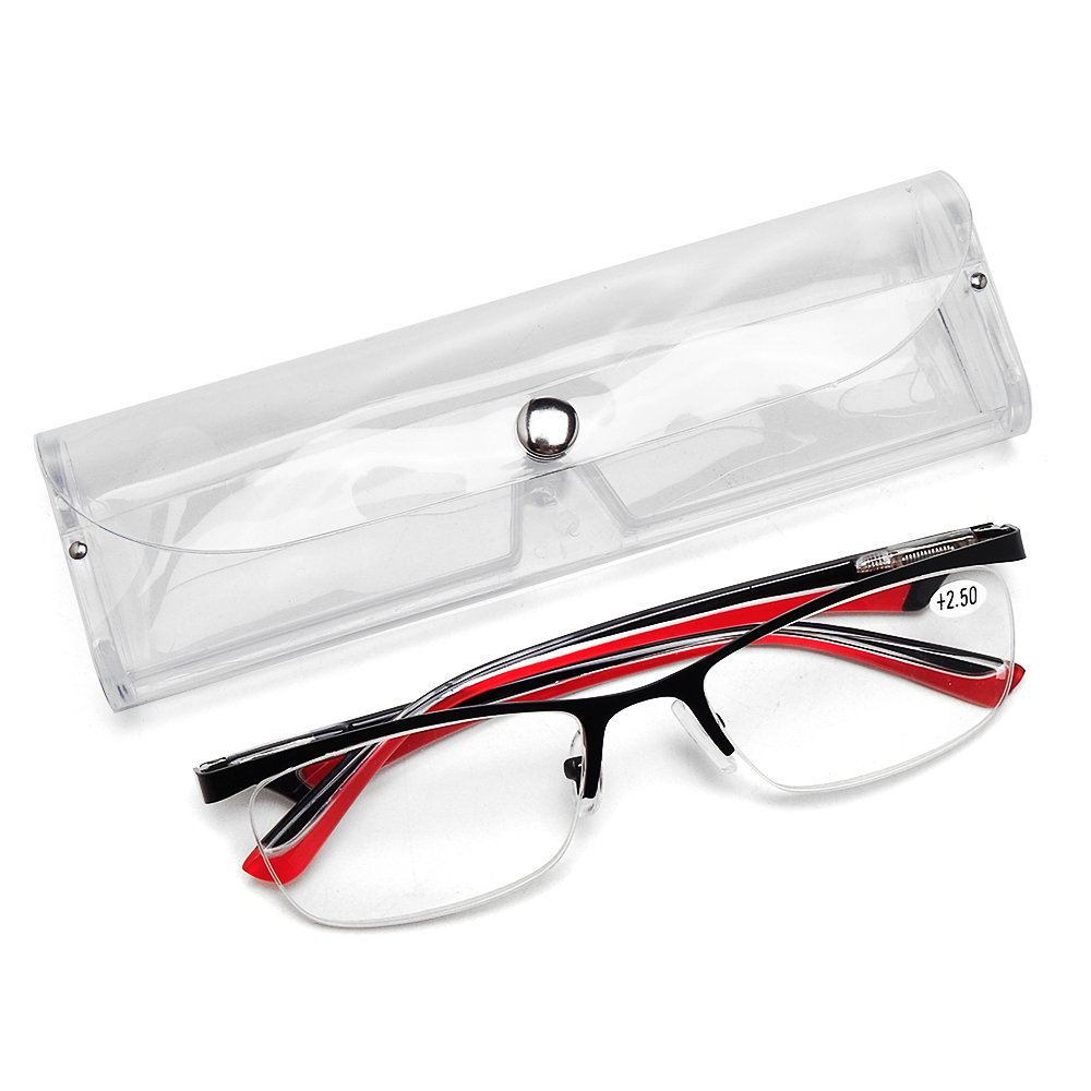 Mens Womens Half-rimmed Glasses Protect Eyes Durable High Definition Reading Glasses