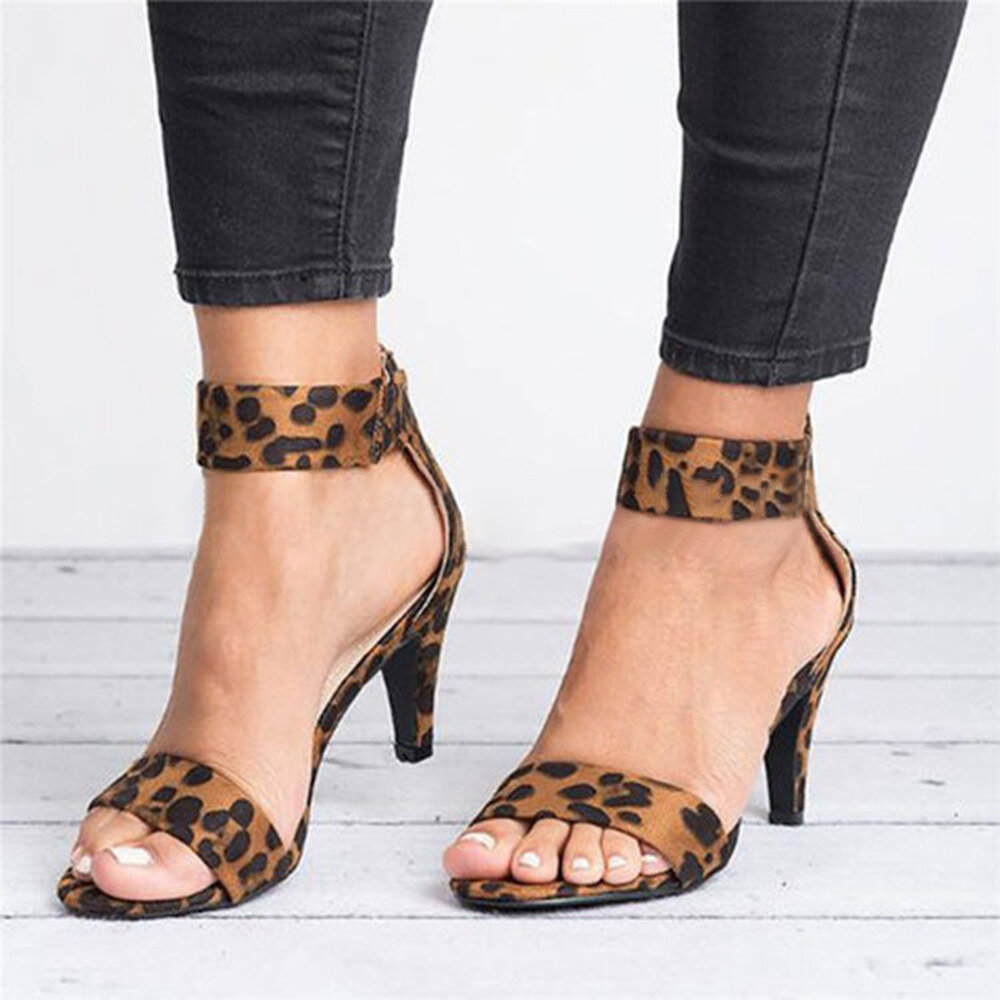 Kitten Heel Open Toe Sandals Pumps