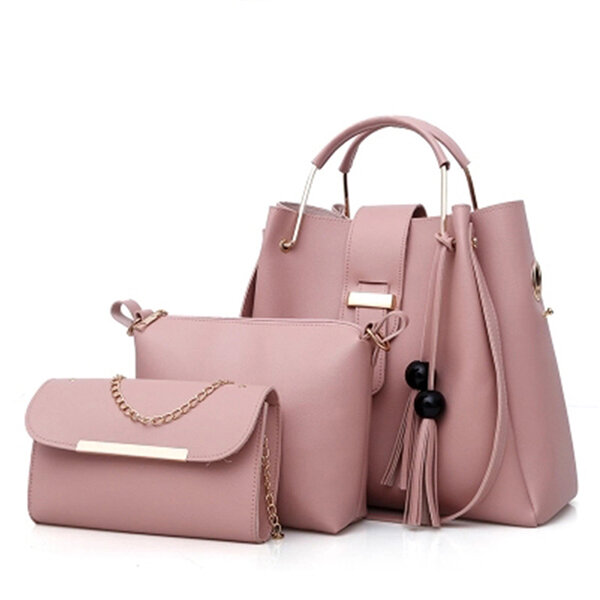 Women Three-piece Set Tassel Handbag Crossbody Bag