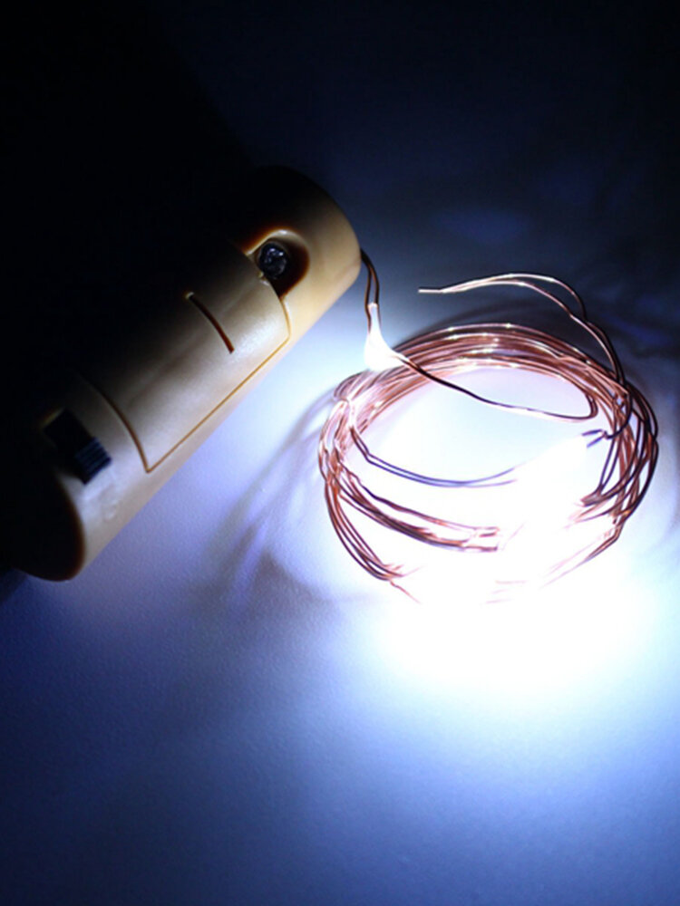 200CM Battery-powered Cork Copper Wire LED Winebottle String Light Lamp Christmas Party Gifts