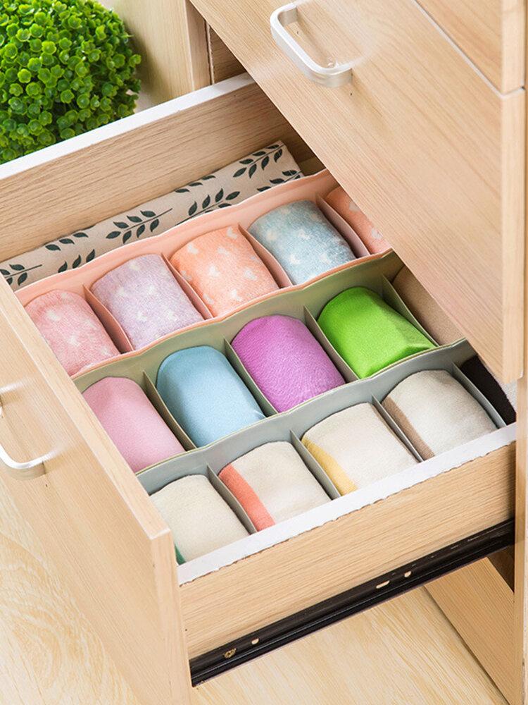 Multi-Grid Plastic Drawer Storage Box Home Desktop Socks Underwear Tie Compartment Storage Box