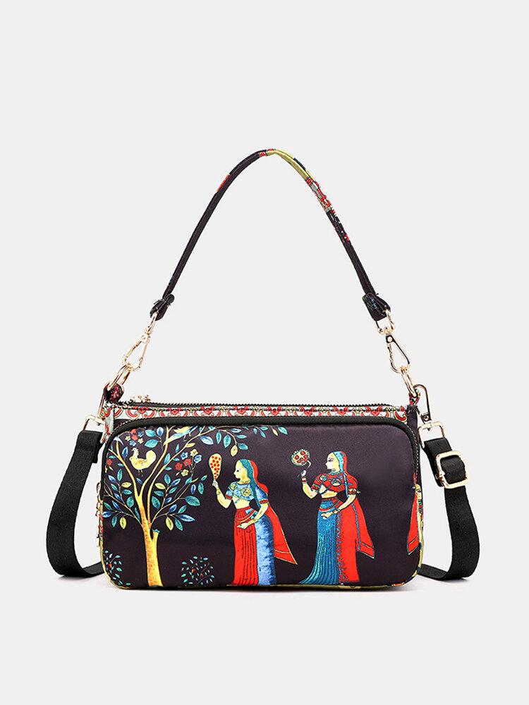 Women Bohemian Print Crossbody Bags Large Capacity Handbags