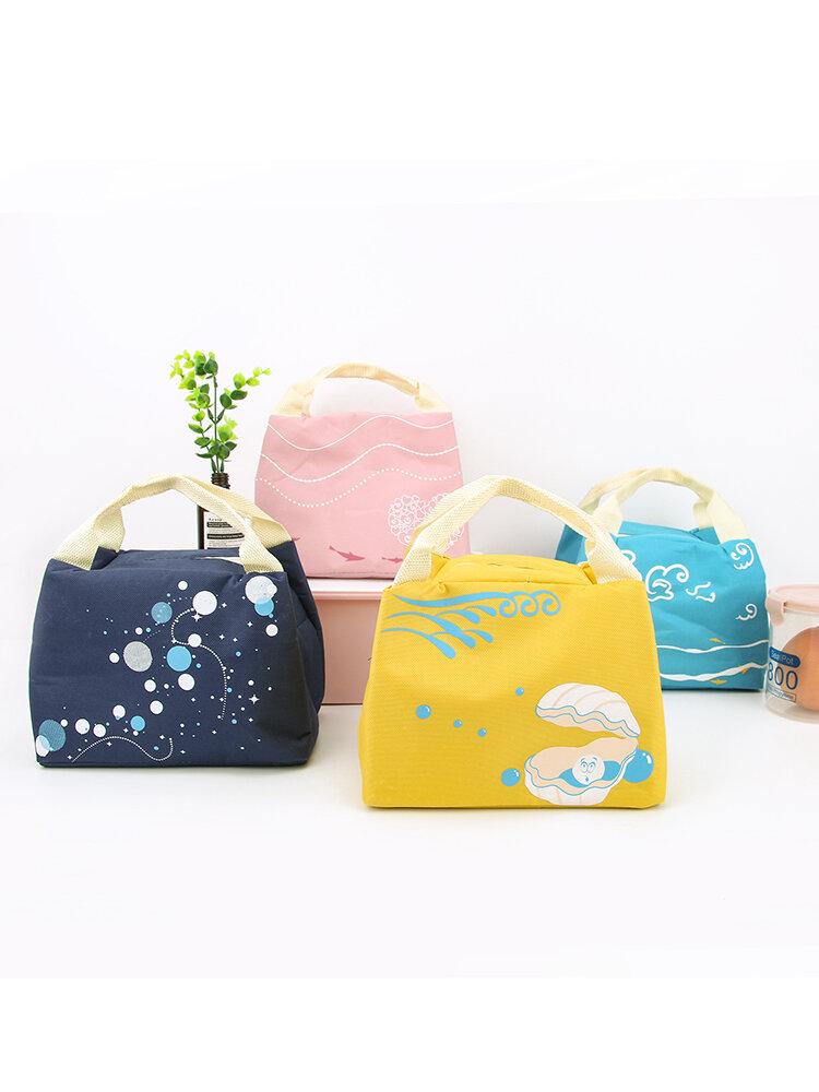 لطيف الغداء مربع حقيبة العزل حزمة في الهواء الطلق نزهة حقيبة الغداء مكتب حقيبة الثلج الطازج