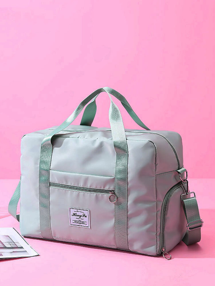 Foldable Travel Duffel Bag Luggage Sports Gym Water Resistant Oxford