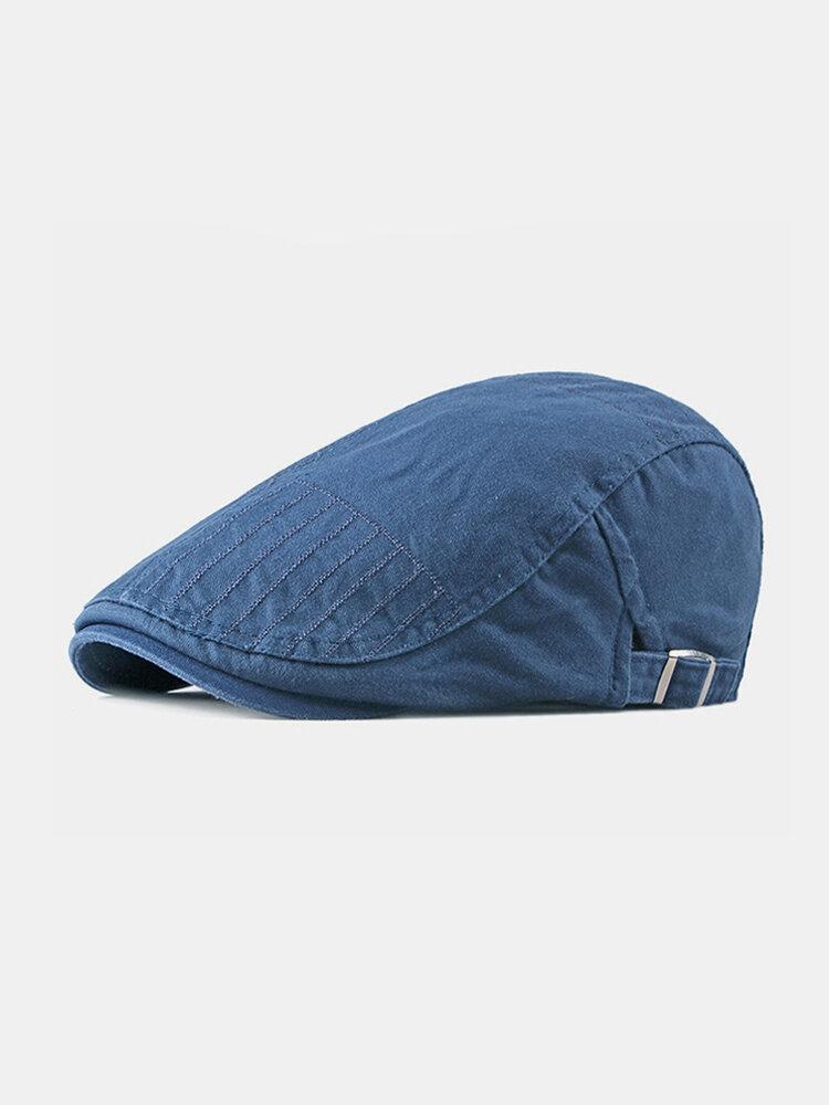 पुरुषों के कपास Plus सिर परिधि एडजस्टेबल आरामदायक फ्लैट टोपी आगे टोपी टोपी टोपी