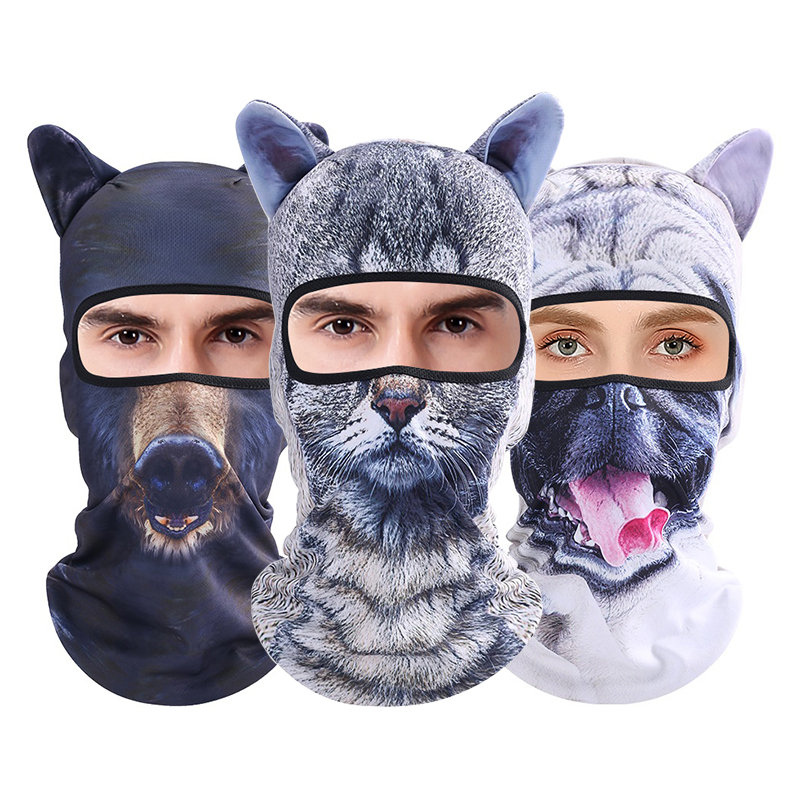 Unisex Cycling Bicycle Ski Mask 3D Animal Balaclava Hat Good Elastic Christmas Party Cap