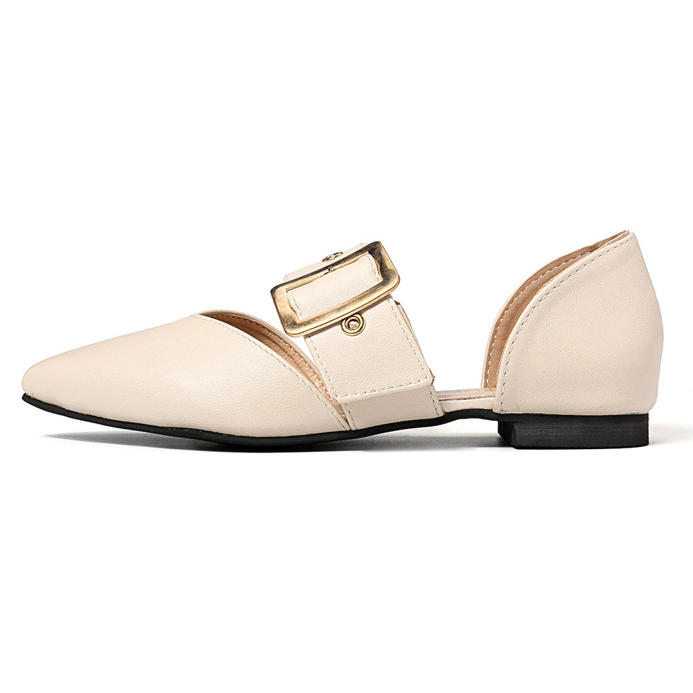 Pointed Toe Buckle Strap D Orsay Flats