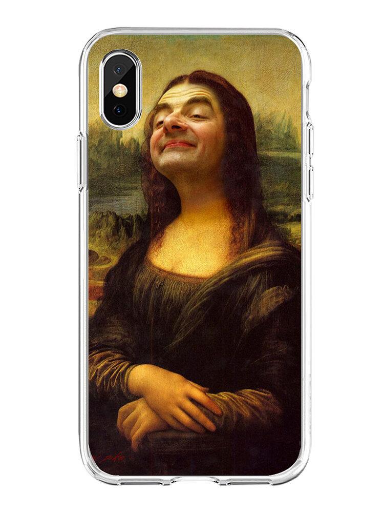 女性と男性の油絵風人格なりすまし文字電話ケース