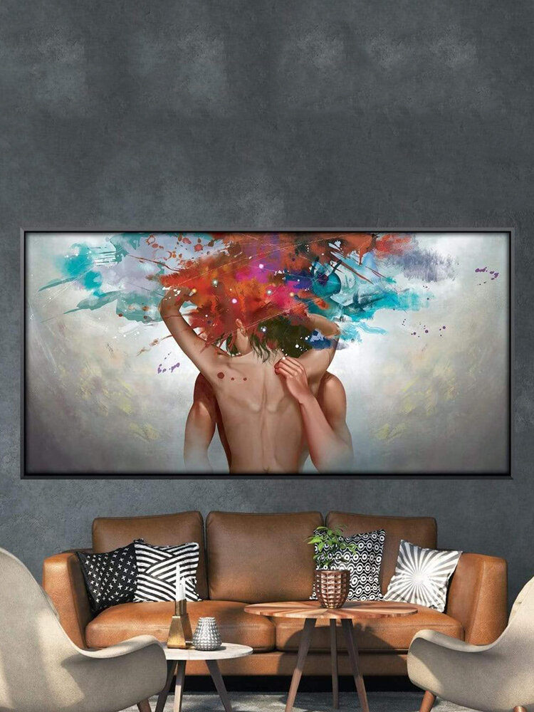 Abstract Art Canvas Painting Unframed Wall Art Canvas Living Room Home Decor