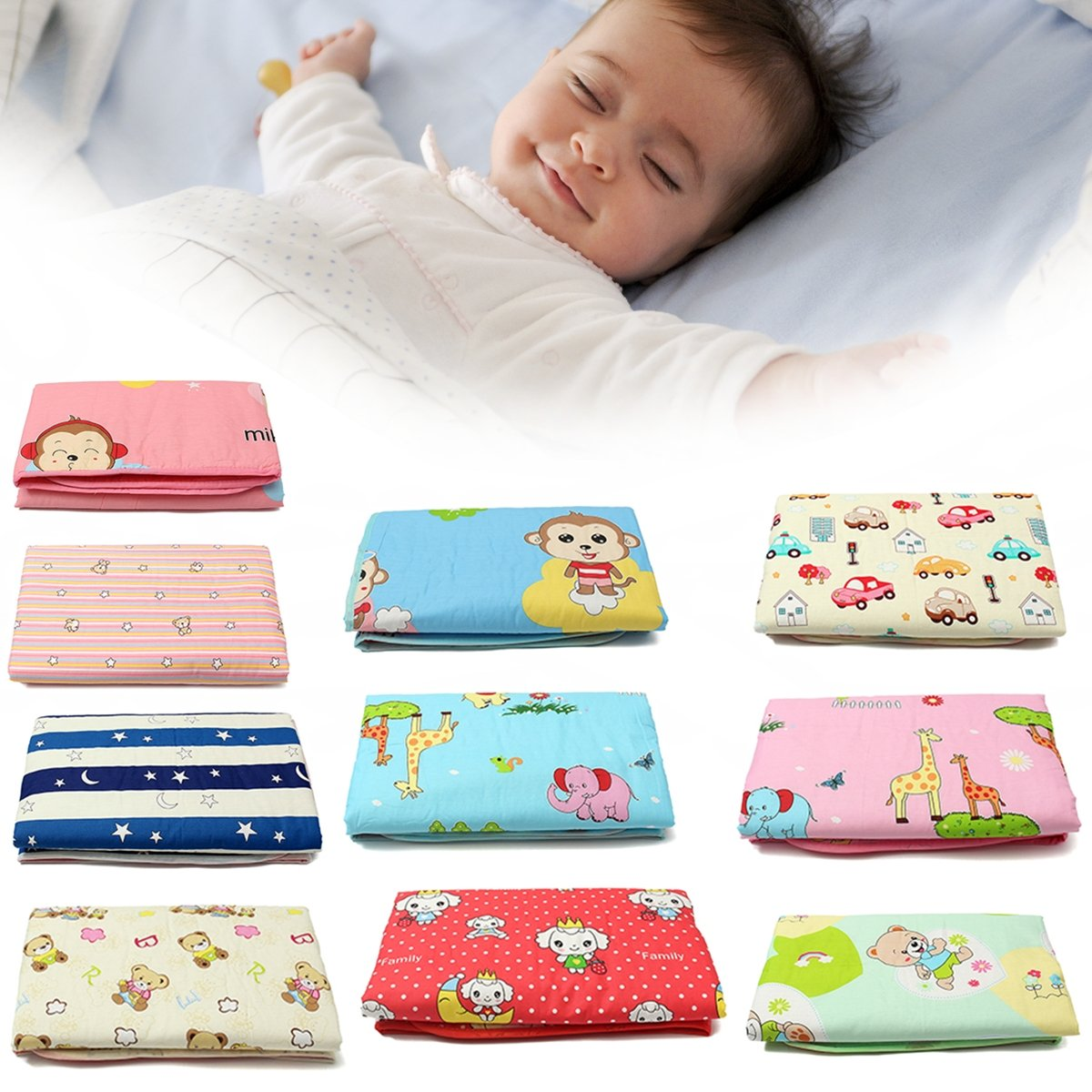 Baby Diaper Changing Pad Kid Nappy Urine Mat For Children Infant Adult 120x150cm