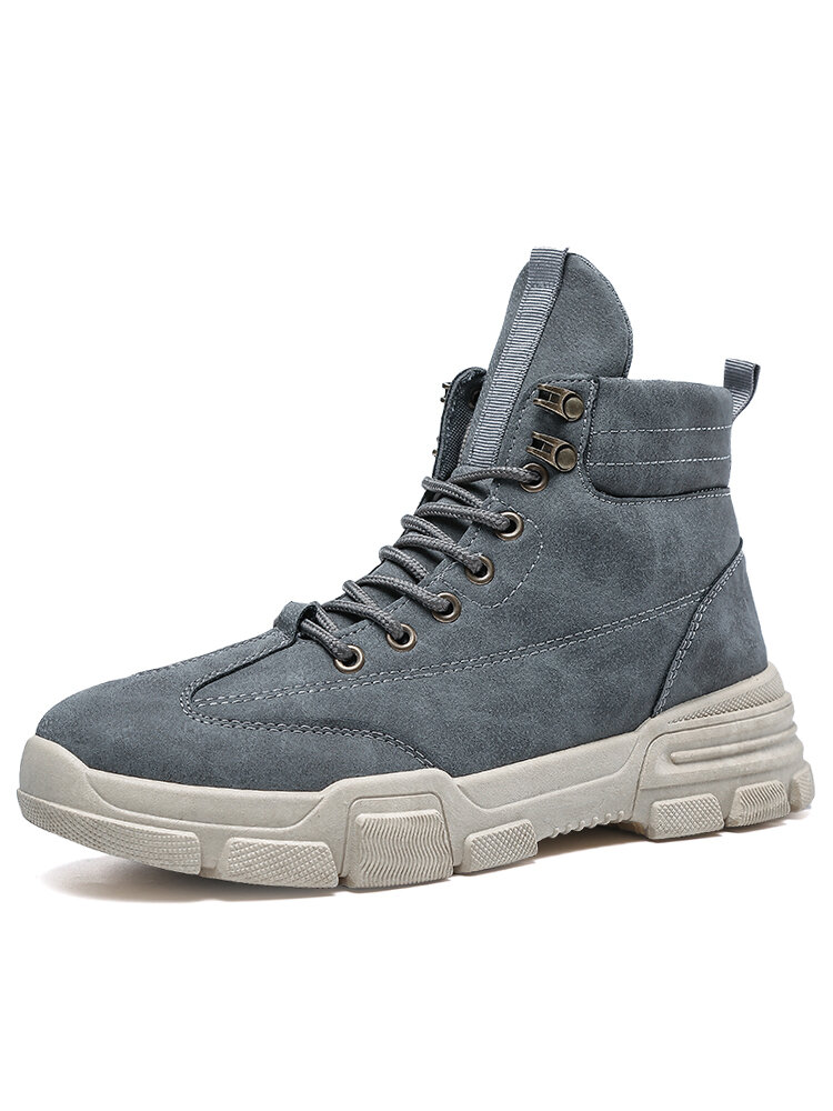 Men Comfy Work Style Non Slip Casual Tooling Boots