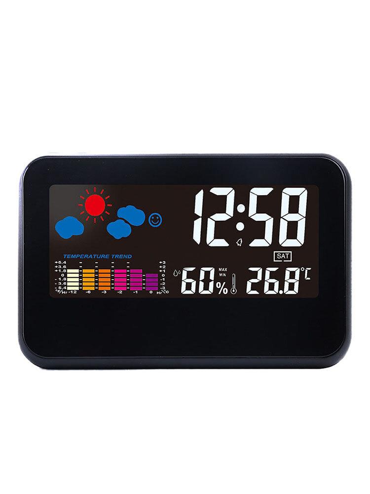 Loskii DC-002 Digital Weather Station Thermometer Hygrometer Alarm Clock Smart Sound Control Clock