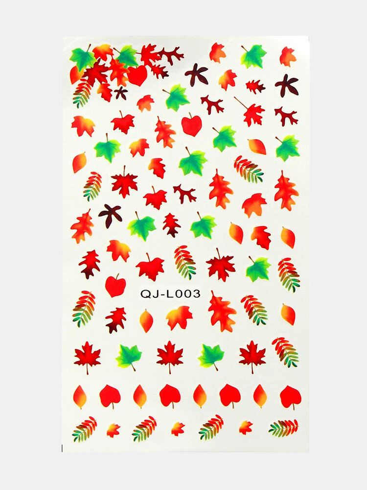 Maple Leaf DIY Nail Art Decoration Water Transfer Manicure Tips Decals Stickers