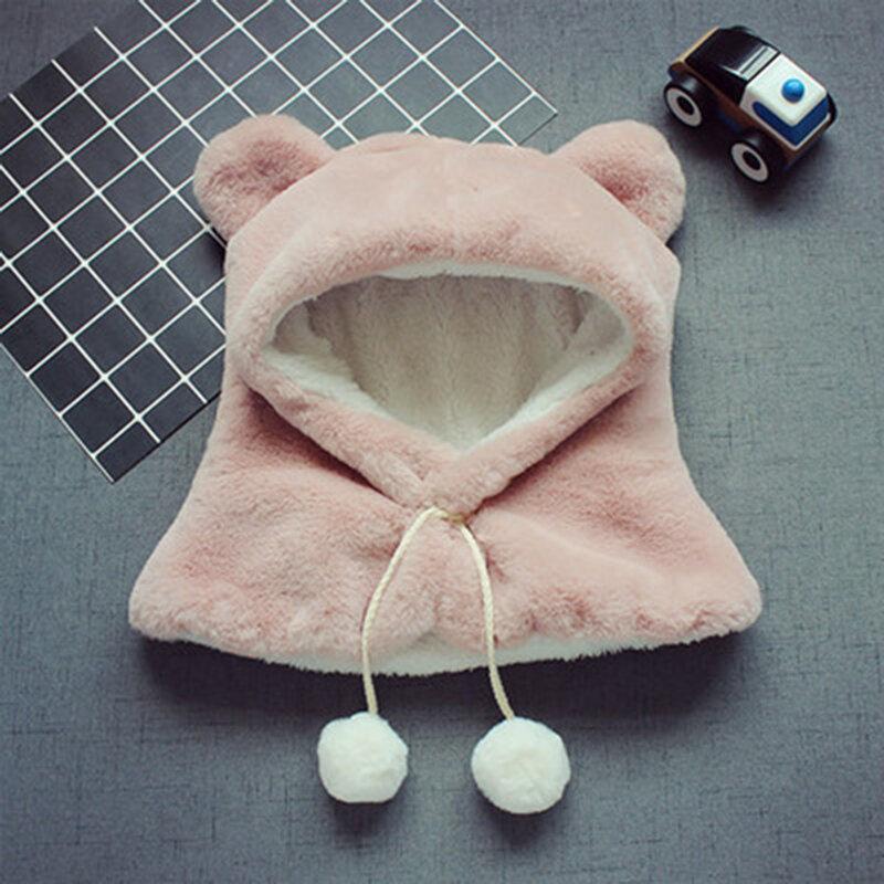 طفل أطفال قبعات الشتاء الدافئة لطيف سميكة الأذن هود هود والأوشحة لمدة 3Y-12Y