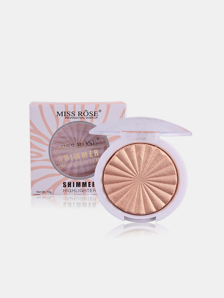 MISS ROSE Highlighter Makeup Palette White Gold Shimmer Glow Brightening Powder Highlighters Cosmeti