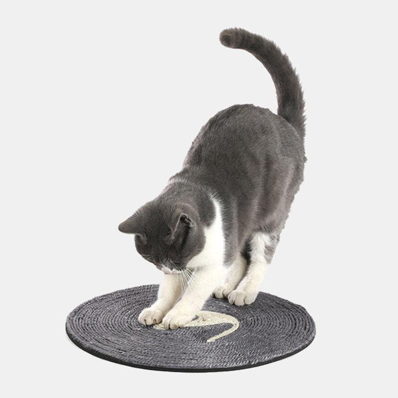 لعبة القط خدش القطة لوح السيزال حصيرة مستديرة للقطط