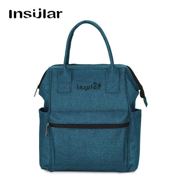 Insular multifunzionale pannolino mamma zaino borsa con cinghie per passeggino, fasciatoio e bagnato Borsa