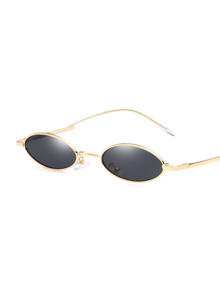 Women Vintage Oval Fashion Sunglasses UV400 Metal Frame Sunglasses Outdoor Travel Beach Sunglasses