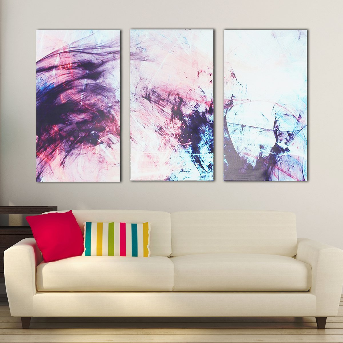 3pcs Abstract Stretched Canvas Prints Framed Wall Art Home Office Decor