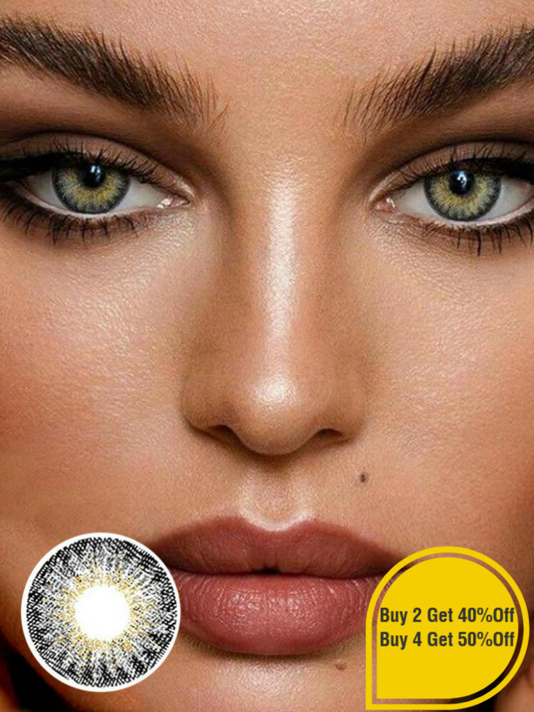 1 PC (For One Eye) MOCHA Forest Ember Prescription Yearly Colored Contact Lens