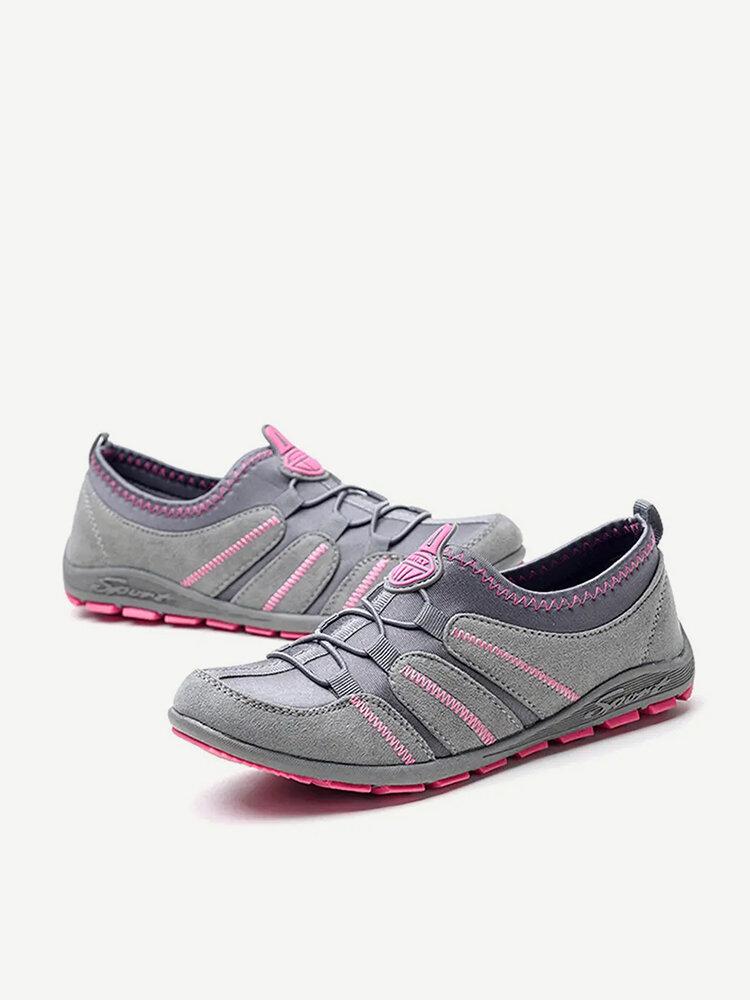 Comfortable Slip On Walking Slip Resistant Athletic Flat Shoes