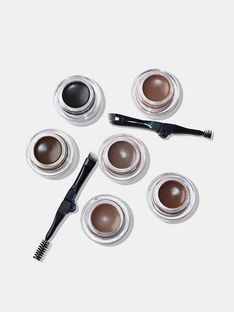 6 Color Eyebrow Cream Long Lasting Waterproof Eyebrow Dye Gel With Brush