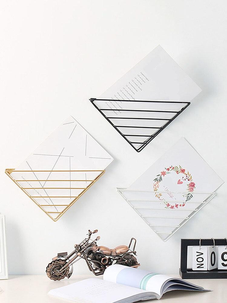 Iron Wall Shelf Holder Magazine Storage Rack Home Decoration