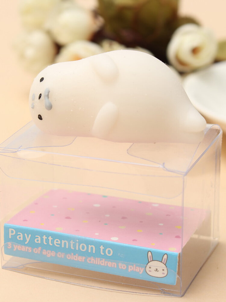 Mochi Sleeping Seal Squishy Squeeze Toy Cute Healing Kawaii Collection Stress Reliever Gift Decor