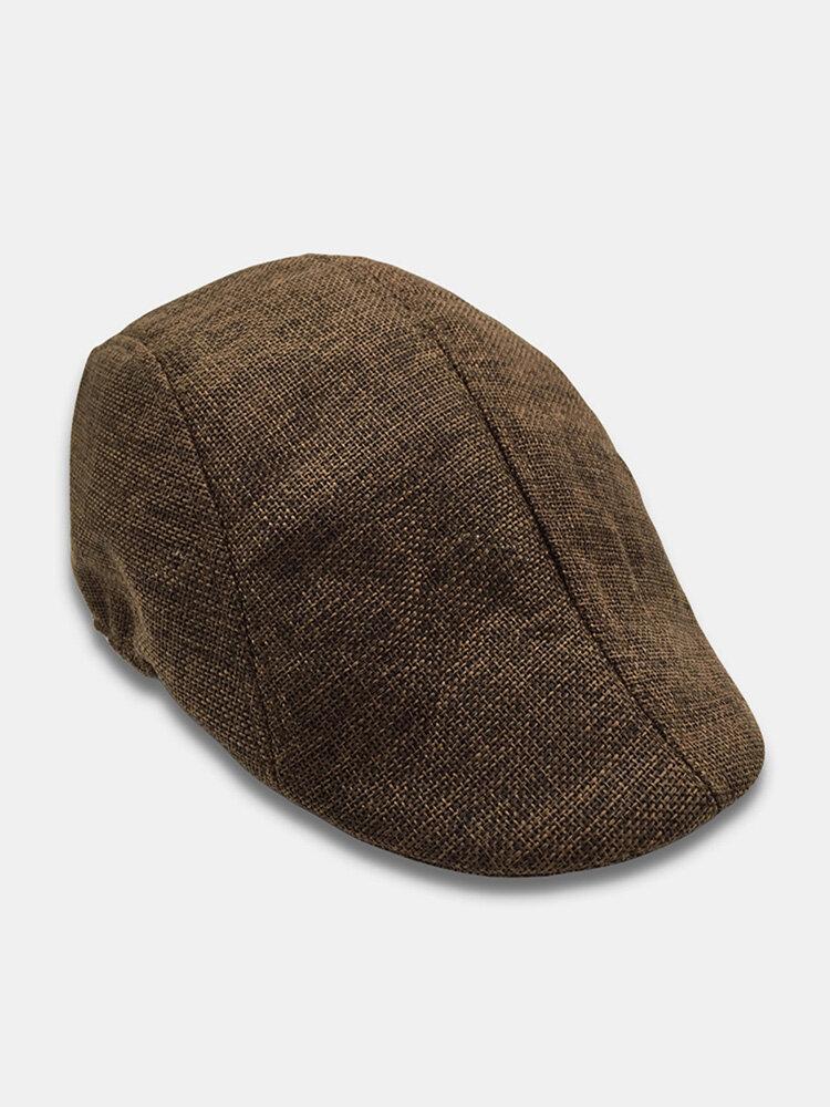 Mens Breathable Painter Beret Caps Casual Outdoor Visor Forward Hat