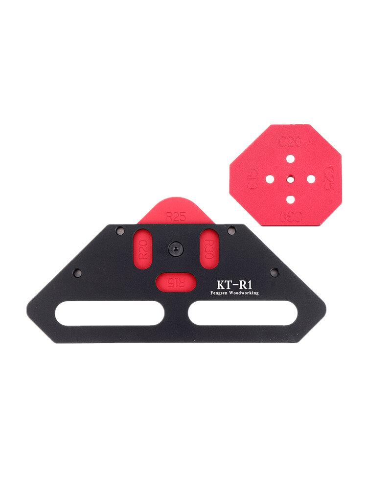 KE-R1 R15/R20/R25/R30/C15/C20/C25/C30 Quick-Jig Router Table Bits Jig Aluminum Alloy Corner Template Woodworking Tool
