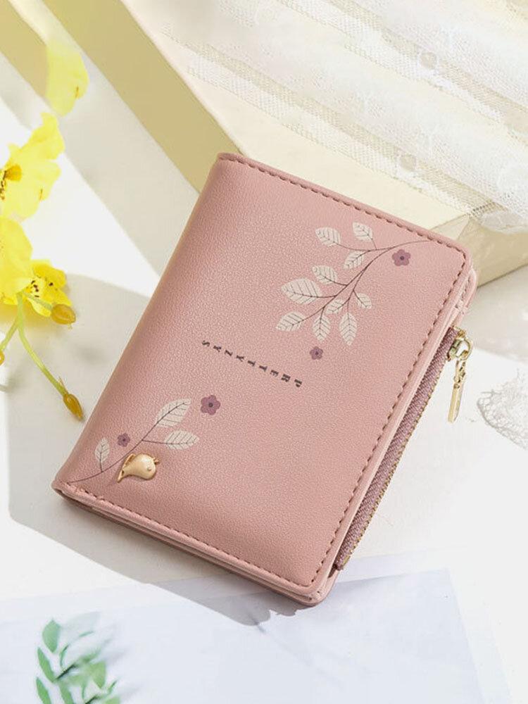 Women Flower Printed  Zipper Wallet
