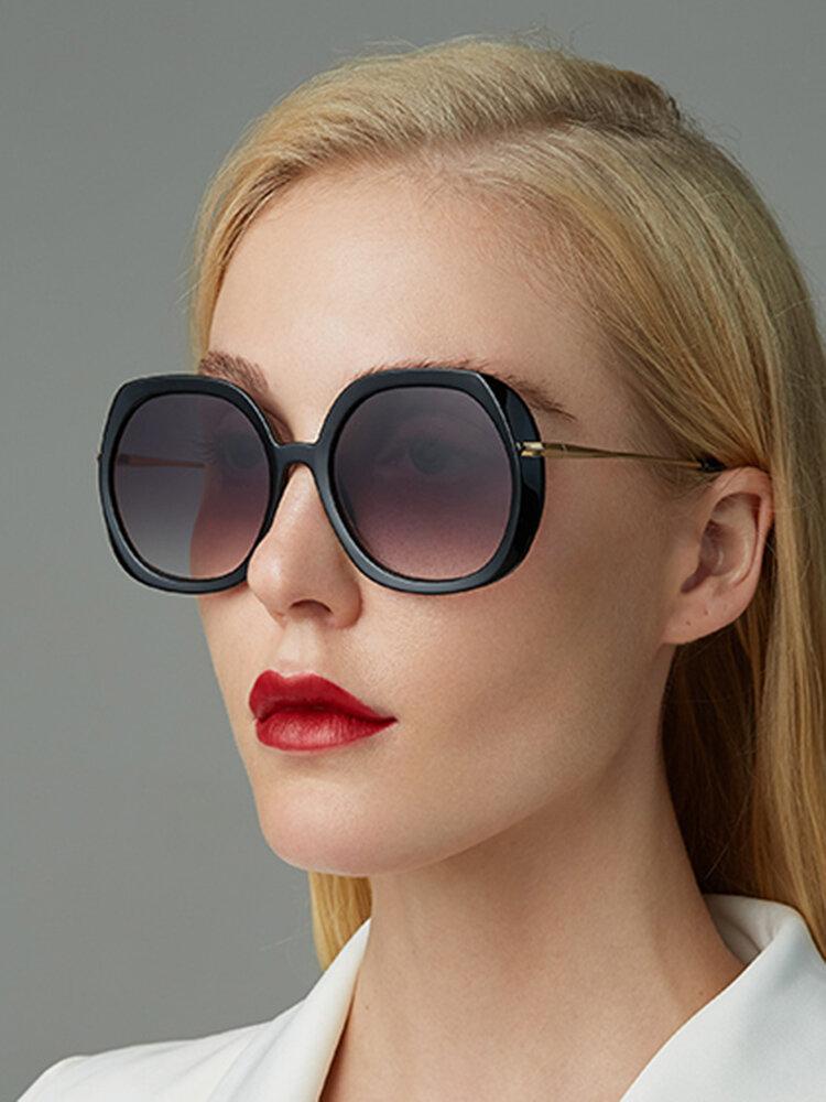 Женское Повседневная мода Классические солнцезащитные очки в металлической оправе круглой формы UV Защитные солнцезащитные очки