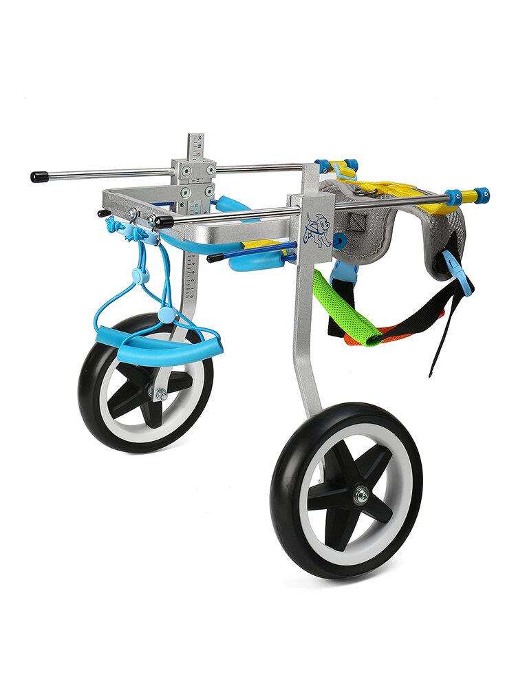 2 Größen Neue verstellbare Aluminium-Haustier-Rollstuhlkatzen Hunde behinderte Hinterbeine