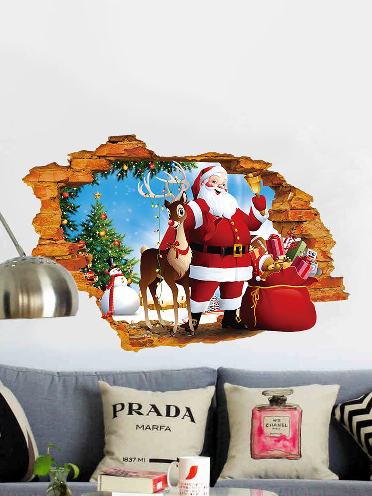 Miico XH7247 Christmas Sticker Home Decoration Sticker Window and Wall Sticker Shop Decorative Stick, newchic  - buy with discount