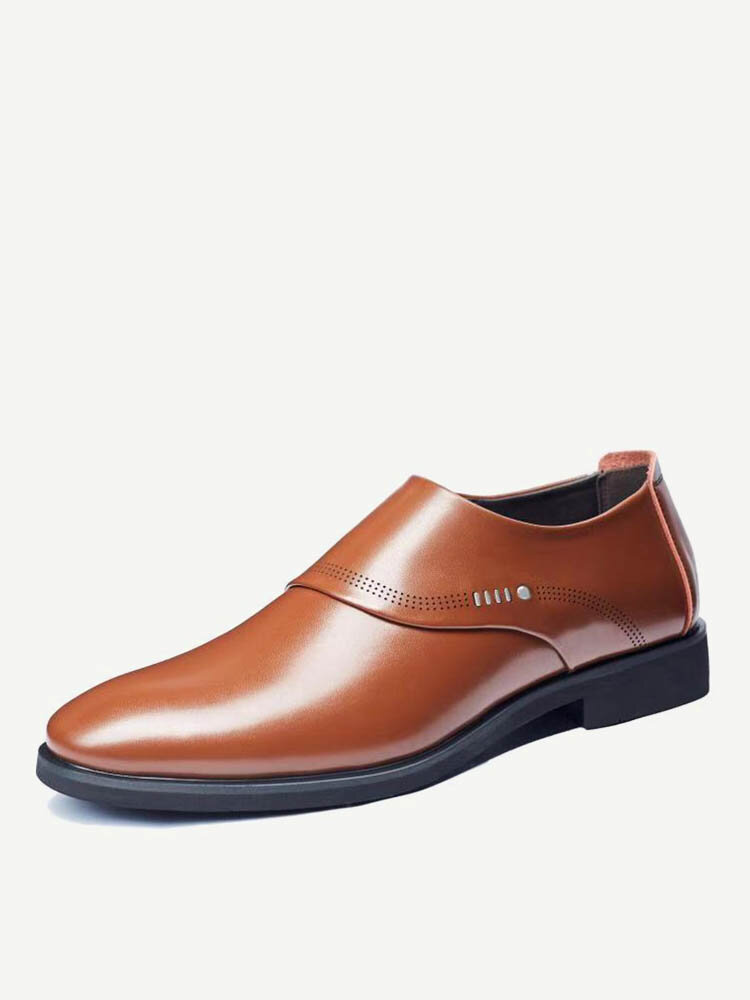 Men Stylish Slip On Comfort Business Formal Casual Leather Shoes