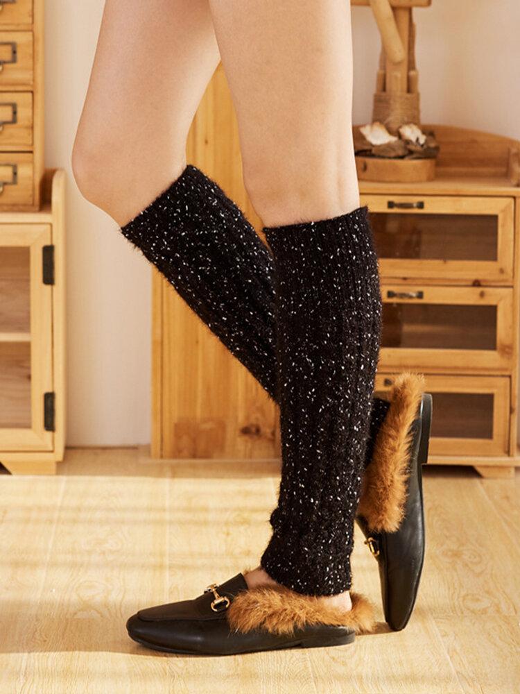 Women's Compression Socks Short Tube Socks Cashmere Wool Knitted Boots Socks