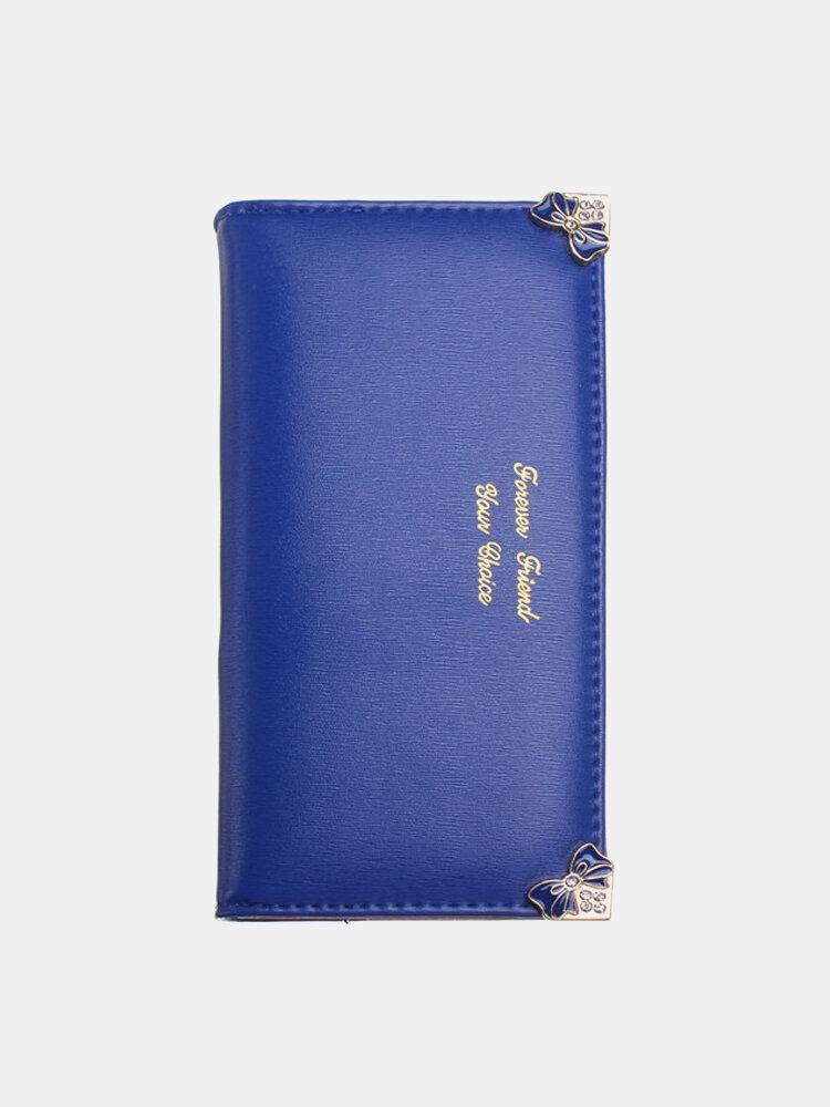 Fashion Women Butterfly Pattern Leather Long Wallet