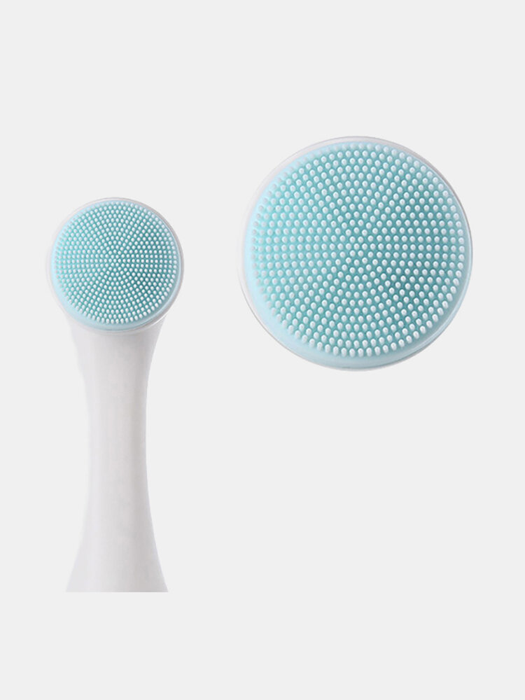 3D Silicone Manual Cleansing Brush Soft Double-Sided Massage Facial Brush Face Care Tool