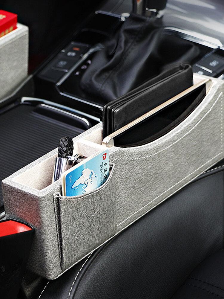Leather & Luxurious Car Storage Box Car Rack Storage Bag Multi-function Seat Cassette Storage Box