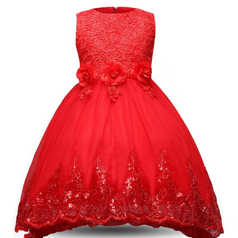 Lace Flowers Princess Trailing Children's Dress