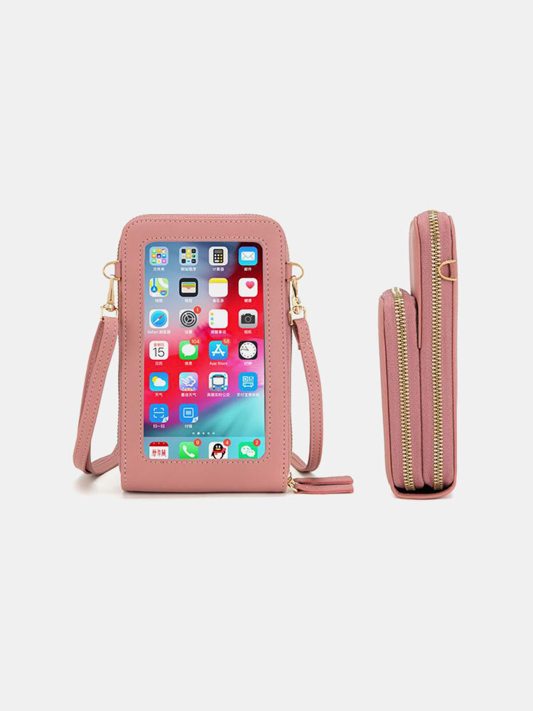Women Multifunctional Touch Screen 6.5 Phone Bag Crossbody Bag