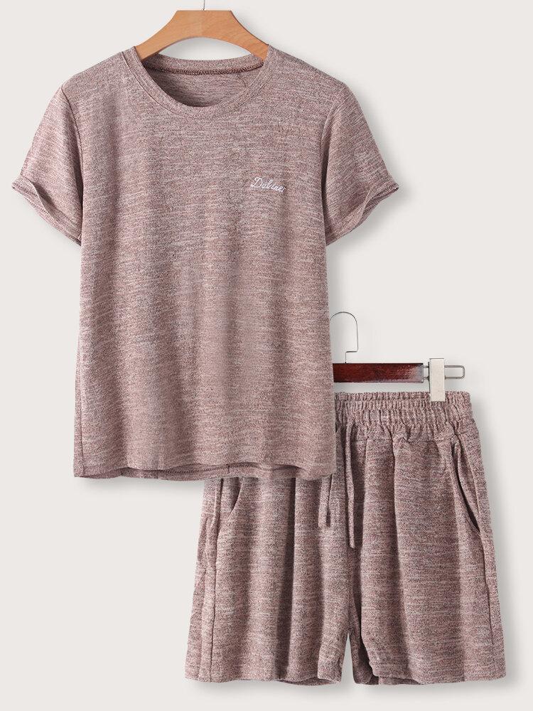 Women's Summer Short-sleeved Two-piece Sport Suit