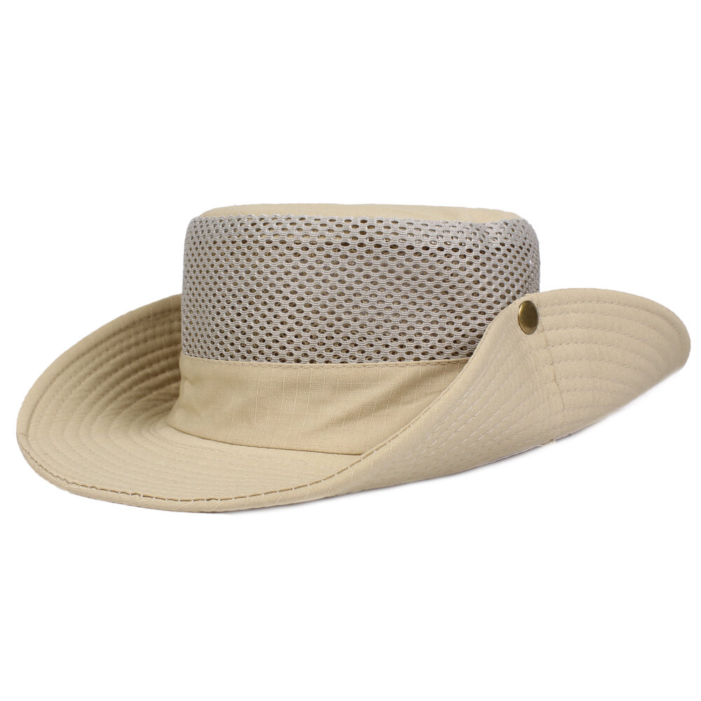 ff50cc18 Men's Hunting Fishing Outdoor Military Wide Brim Caps Bucket Hats Travel  Hats Leisure Caps