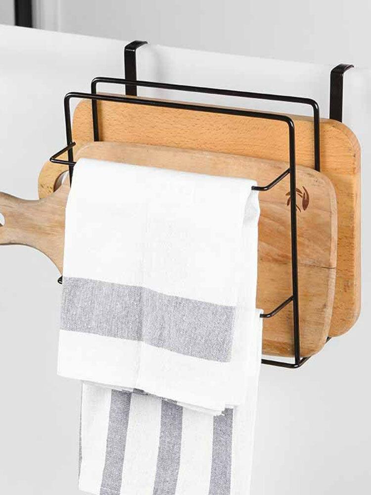 Double Chopping Board Wrought Iron Free Punching Wall Hanging Cabinet Rack