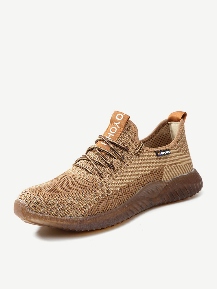Men Knitted Fabric Non Slip Working Casual Safety Shoes