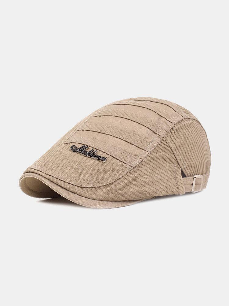 पुरुषों धारीदार पैटर्न ठोस रंग आकस्मिक फैशन Sunvisor फ्लैट टोपी आगे टोपी टोपी टोपी