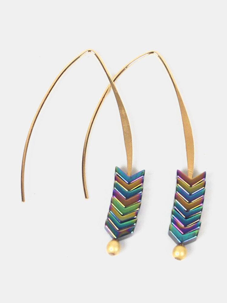 Fashion Style Magnetic Ear Drop V Shape Arrow Earrings Alloy Ear Hook For Women