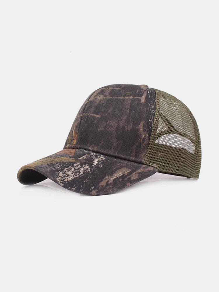 Men's Summer Breathable Adjustable Mesh Hat Camouflage Outdoor Sports Climbing Baseball Cap