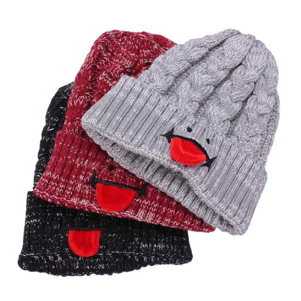 Children Kids Knit Wool Cap Boy Girl Baby Winter Warm Cute Hat