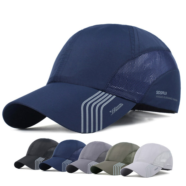 Mens Thin Breathable Quick Dry Baseball Cap Sunshade Leisure Outdoor Mesh Hat